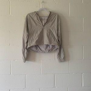 Lulu Half zip cropped jacket
